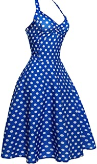 Vintage Sleeveless Cocktail Dress Evening Party Dresses Halter-Neck Dresses Birthday Skirt