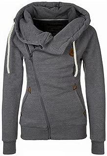 Womens Jackets Oblique Zipper Hoodies Winter Jacket for Women