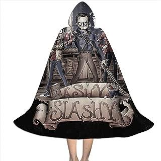 Ashy Slashy Ash Vs Evil Dead Unisex Kids Hooded Cloak Cape Halloween Party Decoration Role Cosplay Costumes Outwear Black
