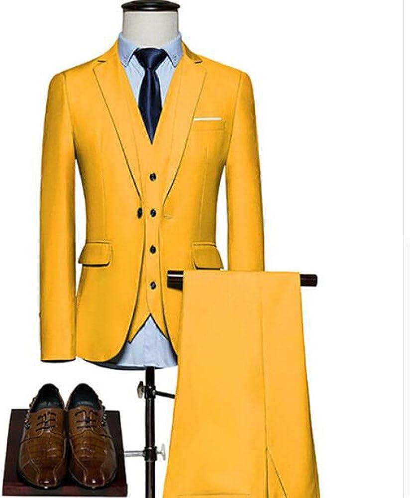 Wedding Suit for Men 3 Pieces Mens Suit Slim Fit Groom Tudexo