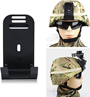 Tactical Helmet Mount Aluminum Alloy Night Vision Goggle Front Bracket Mount Bracket Camera Mount Adaptor for MICH IBH Helmets with Mounting Screw & Nut Military Accessories