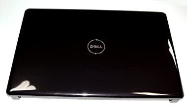 15H7R NEW Genuine OEM Dell Inspiron 1750 Laptop GLOSSY BLACK 17.3 Inch LCD Rear Back Cover Top Monitor Panel Case Lid W/Antenna Wire Assembly