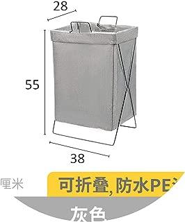 Folding Bag Laundry Basket Bag Large Iron and Fabric Bathroom Storage Collapsible Laundry Basket Folding Wheel Bag,Chocolate