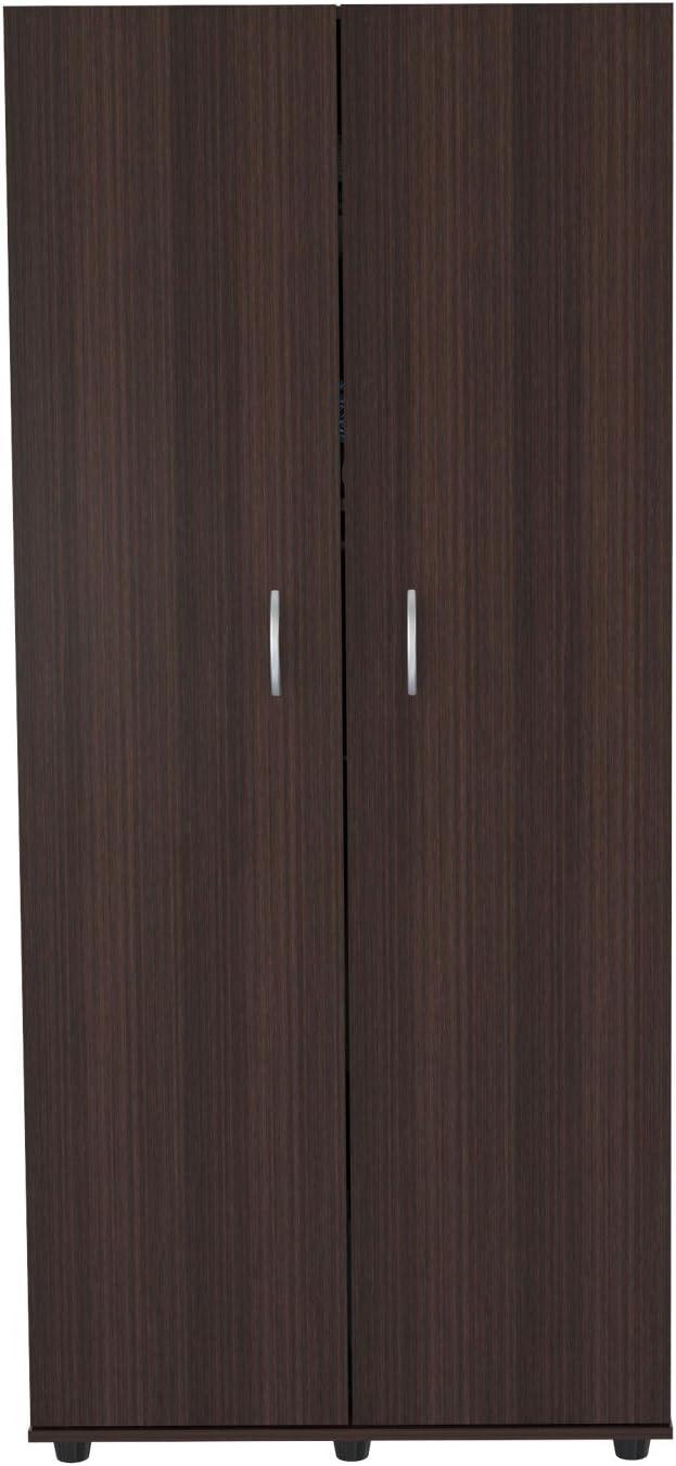 Inval America Two Door Wardrobe/Armoire - Melamine/Engineered Wood, Multi (AM-2223)