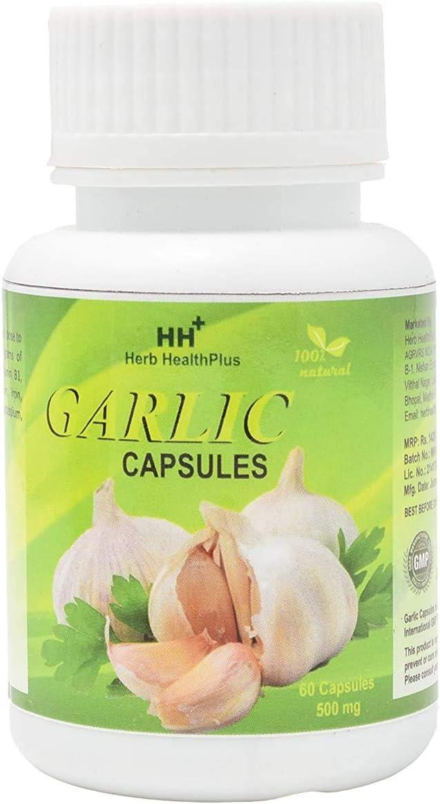 Dharma Herb HealthPlus Garlic 60 500mg - Capsules Dallas Mall quality assurance