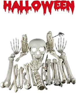 ZXX Skeleton Decoration  Pieces Skeleton Bones and Skull  for Halloween Decoration and Spookiest Graveyard Scene Horror Festival Party