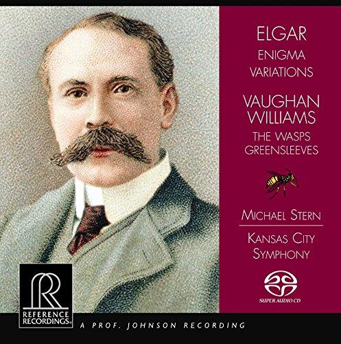 イギリス作曲家の管弦楽曲集 (Elgar : Engima Variations | Vaughan Williams : The Wasps , Greensleeves / Michael Stern , Kansas City Symphony) [SACD Hybrid] [輸入盤]