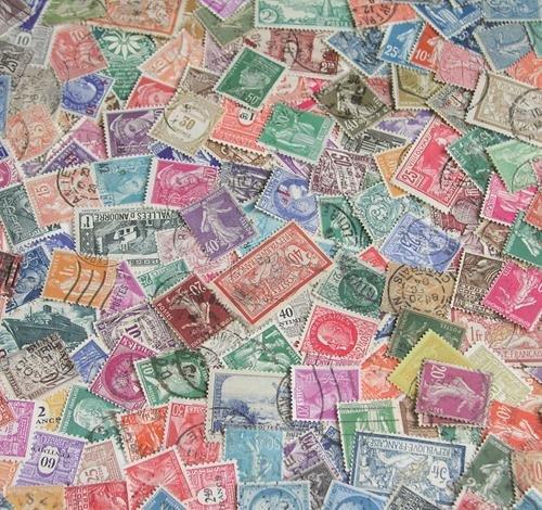 Goldhahn Zusammenstellung Frankreich gestempelt Briefmarken für Sammler