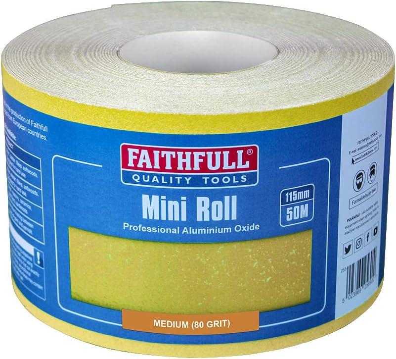 Faithfull FAIAR11580Y Sandpaper Rolls Houston Mall Ranking TOP2 50M Medium 80 Grit