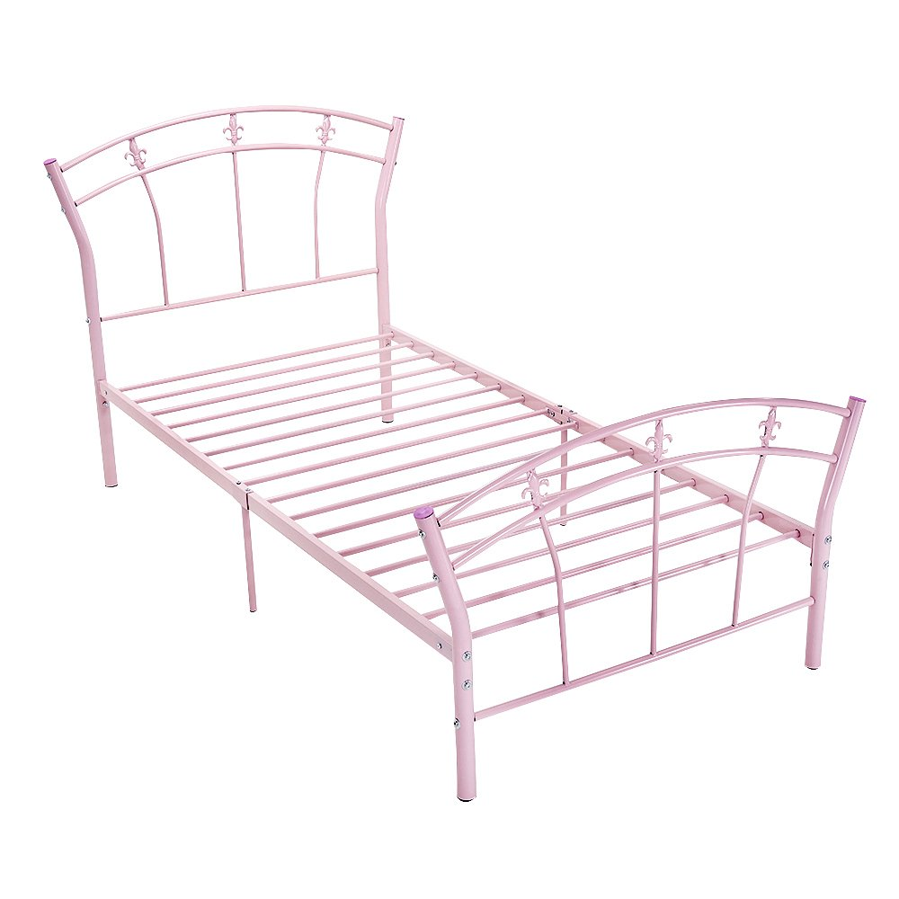 Metal Bed Frame 3ft Single Pink Heart Shape Design For Children Girls Bedroom Buy Online In Mongolia At Mongolia Desertcart Com Productid 134491062