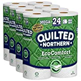 Quilted Northern EcoComfort Toilet Paper, 24 Mega Rolls 2-Ply (4 Packs of 6 Mega Rolls)