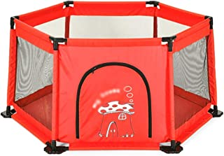 WJSW Children s Play Fence Baby Safety Playpen Indoor Anti-drop Playground  color Blue