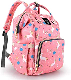 PACKNBUY Baby Diaper Bag Mother Maternity Backpack Pink