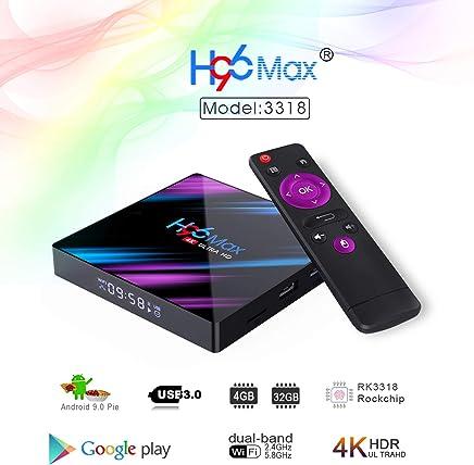 $38 Get H96 MAX Network Player 4GB 32GB Android 9.0 System Dual WiFi(2.4Ghz/ 5Ghz) + Bluetooth(4.0) + LED Digital Display Set-Top Box USB 3.0 & USB 2.0