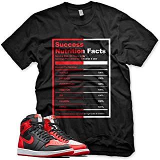 New SUCCESS FACTS T Shirt for Jordan 1 Homage to Home NRG Bred Chicago Bull