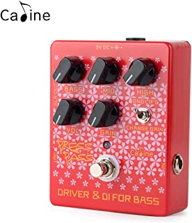 Caline Pedals DI Preamp Guitar Effects Pedal Bass Driver Distortions Red CP-59