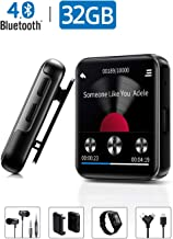MP3 Player with Bluetooth,32GB Clip MP3 Player with FM Radio Wired Earbuds,Music Player..