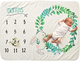 Regalos Personalizados Para Futuras Mam/ás Registra Su Edad Y Crecimiento Manta Mensual De Hito Para Beb/é Unisex Suave Gruesa Y Grande Manta Mensual De Beb/é Para Fotos