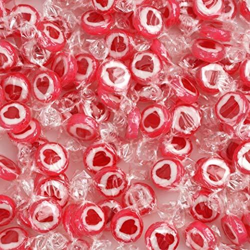 WeddingTree Herzbonbons Rot - 500 g Rocks Bonbons handgewickelte Süßigkeiten Großpackung - Gastgeschenke für Hochzeiten Taufe Valentinstag Muttertag Kommunion