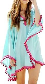 Women Bikini Swimwear Cover up Chiffon Long Sleeve Bathing Suit Beachwear Swimsuit Dress
