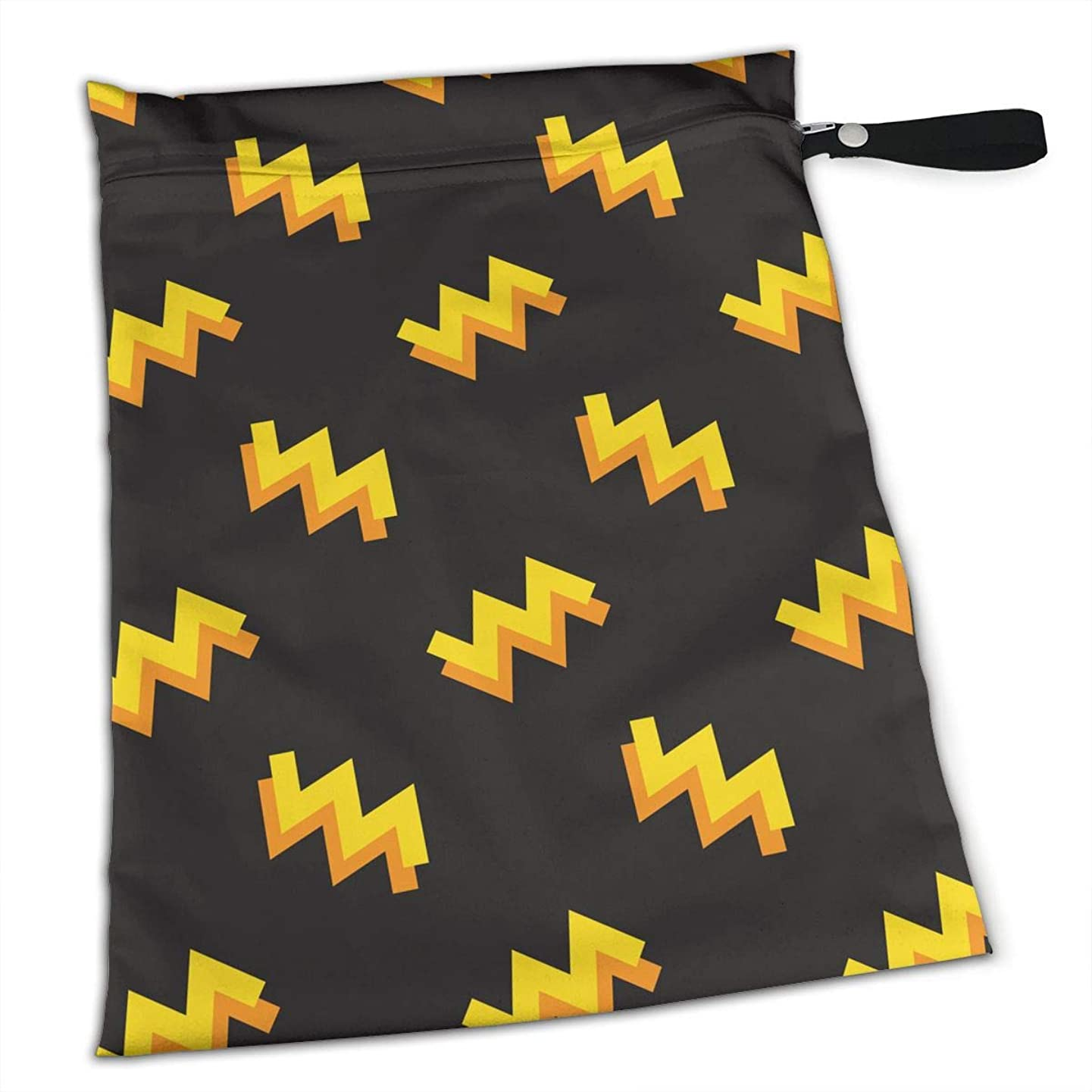 YyTiin Reusable Snack and Everything Bags - Memphis Style,Large