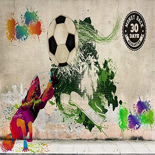 Behang, behang, fotobehang, personaliseerbaar, Street Graffiti-wand, hip hop, voetbal gereedschap, achtergrond, muur, hal galerie, sport tent, muur 250 x 175 cm.