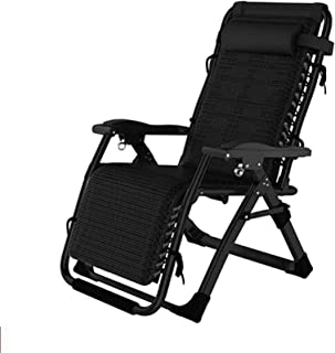 Recliner Folding Reclining Chairs Metal Sun Lounger Garden Patio Beach Home Decking Holiday Lounger Chairs-9 (Color : 3)
