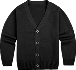 Maylofuer Little Boys Cardigan Sweater Buttons Down V-Neck Solid