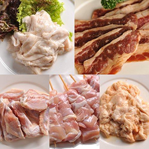 肉のあおやま 焼肉セットの決定版! 新・みんなの焼肉セット(味付き牛カルビ・味付きとり串・味付き手羽先・豚みそホルモン・豚塩ホルモン)