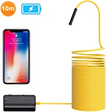 DEPSTECH 1200P Semi-Rigid Wireless Endoscope, 2.0 MP HD WiFi Borescope Inspection Camera,16 inch Focal Distance & 2200mAh Battery Snake Camera for Android & iOS Smartphone Tablet-33ft