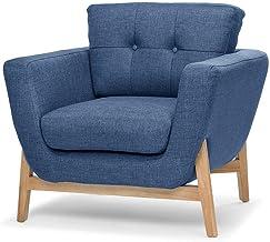 Helgrim Fabric Armchair - Navy Blue