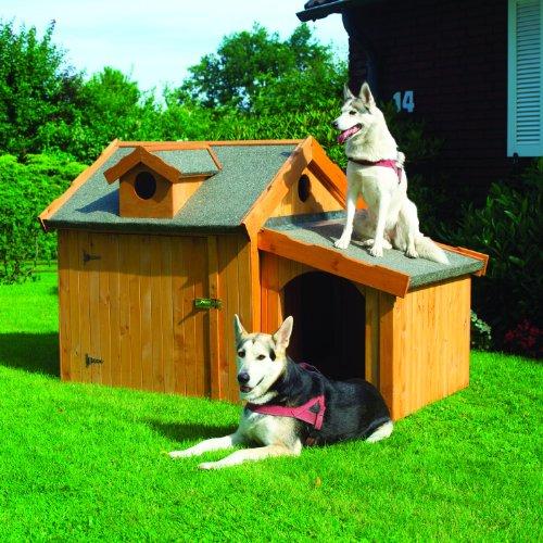 Promadino Hundehütte Max mit Anbau