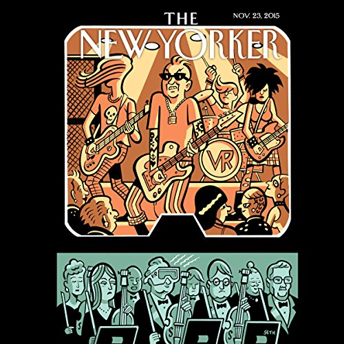 The New Yorker, November 23rd 2015 (Adrian Chen, Kathryn Schulz, John Cassidy) audiobook cover art