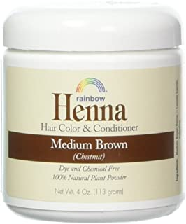 Rainbow Research Henna Hair Color and Conditioner, Persian Brown Chestnut, 4 Ounce