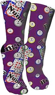 靴下 抗菌防臭 ソックス ビンゴ私は1つ以上の数アスレチックスポーツソックス、旅行&フライトソックス、塗装アートファニーソックス30センチメートル長い靴下