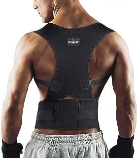 Corrector de Postura para Espalda Hombro Aliviar Dolor de Columna Cinta Ajustable y Cómoda Sujetador Cinturón Corrección de Postura Respirable para Mujeres y Hombres