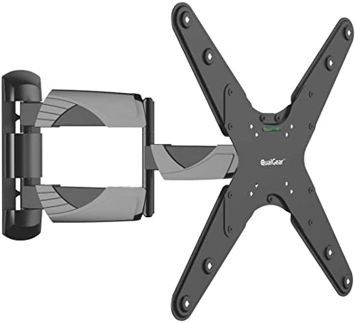 QualGear QG-TM-A-012 Universal Ultra Slim Low Profile Articulating Wall Mount for 23-55 Inches LED TVs, Black [UL Lis...