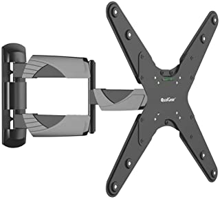 QualGear Qg-TM-A-012 Universal Ultra Slim Low Profile Articulating Wall Mount for 23-55 Inches LED TVs, Black [UL Listed]