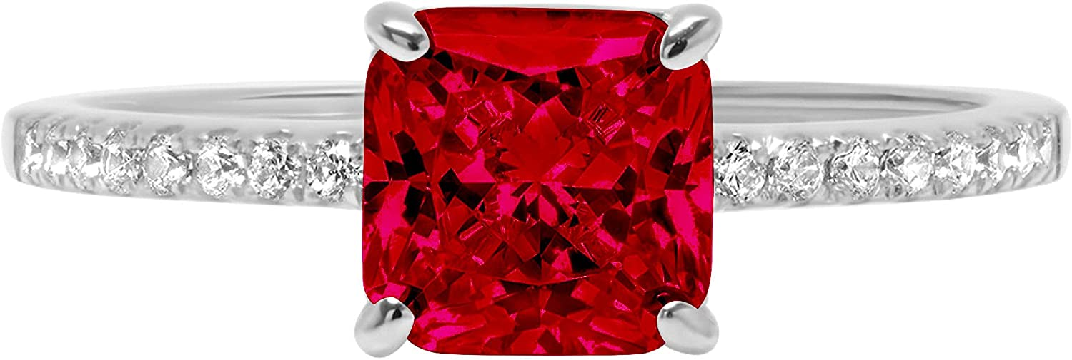 1.66ct Brilliant Asscher Cut Solitaire N Flawless Genuine Accent List Special price for a limited time price