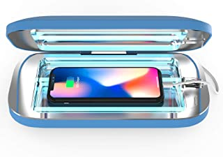 PhoneSoap Pro UV Smartphone Sanitizer & Universal Charger | Patented & Clinically Proven UV Light Disinfector | (Blue)