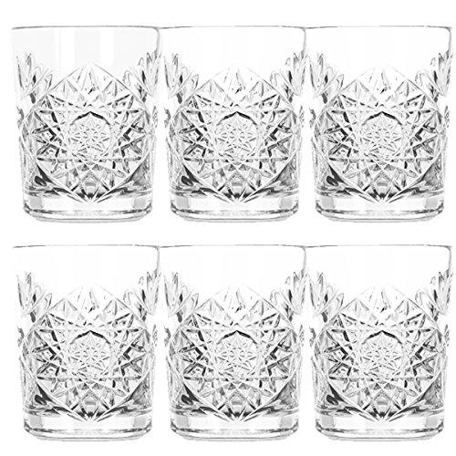 Libbey - Hobstar - Vaso de whisky, agua, zumo - Juego de 6 - Cristal - 350 ml