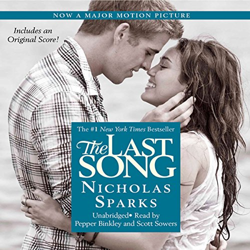 The Last Song                   By:                                                                                                                                 Nicholas Sparks                               Narrated by:                                                                                                                                 Pepper Binkley                      Length: 12 hrs and 33 mins     1,428 ratings     Overall 4.3