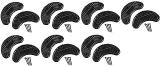 7 Pairs Traveler Men's Shoe Heel Plates Taps with Nails - Extra Large