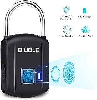 Fingerprint Padlock Smart Keyless Security Lock IP65 Waterproof Anti-Theft USB Rechargeable Suitable for School Locker, Gym, Door, Cabinet, Suitcase, Backpack