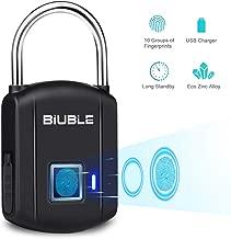 Fingerprint Padlock,Smart Keyless Security lock IP65 Waterproof Anti-Theft USB Rechargeable Suitable for School Locker, Gym, Door, Cabinet, Suitcase, Backpack