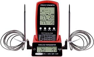 LEXIANG Termometro a Doppia sonda per Barbecue Digitale Forno da Cucina Wireless Forno per la Cottura degli Alimenti Grill...