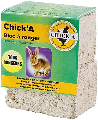 CHICK'A - UKAL 001080 - Basse-Cour - Suppléments nutritionnels - Bloc à ronger Tous rongeurs