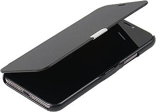 MTRONX para Funda iPhone X, Funda iPhone 10, Case Cover Carcasa Caso Ultra Folio Flip Cuero Delgado Piel con Cierre Magnetico para Apple iPhone X iPhone 10 - Negro(MG-BK)