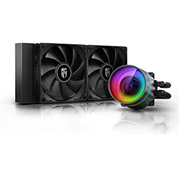 DEEP COOL Castle 240EX, Addressable RGB AIO Liquid CPU Cooler, Anti-Leak Technology Inside, Cable Controller and 5V ADD RGB 3-Pin Motherboard Control, TR4/AM4 Supported, 3-Year Warranty