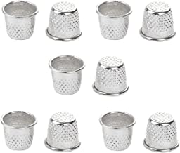 vingerhoedje, 10st naaiende metalen naaldschilden voor doe-het-zelf ambachten, zilver